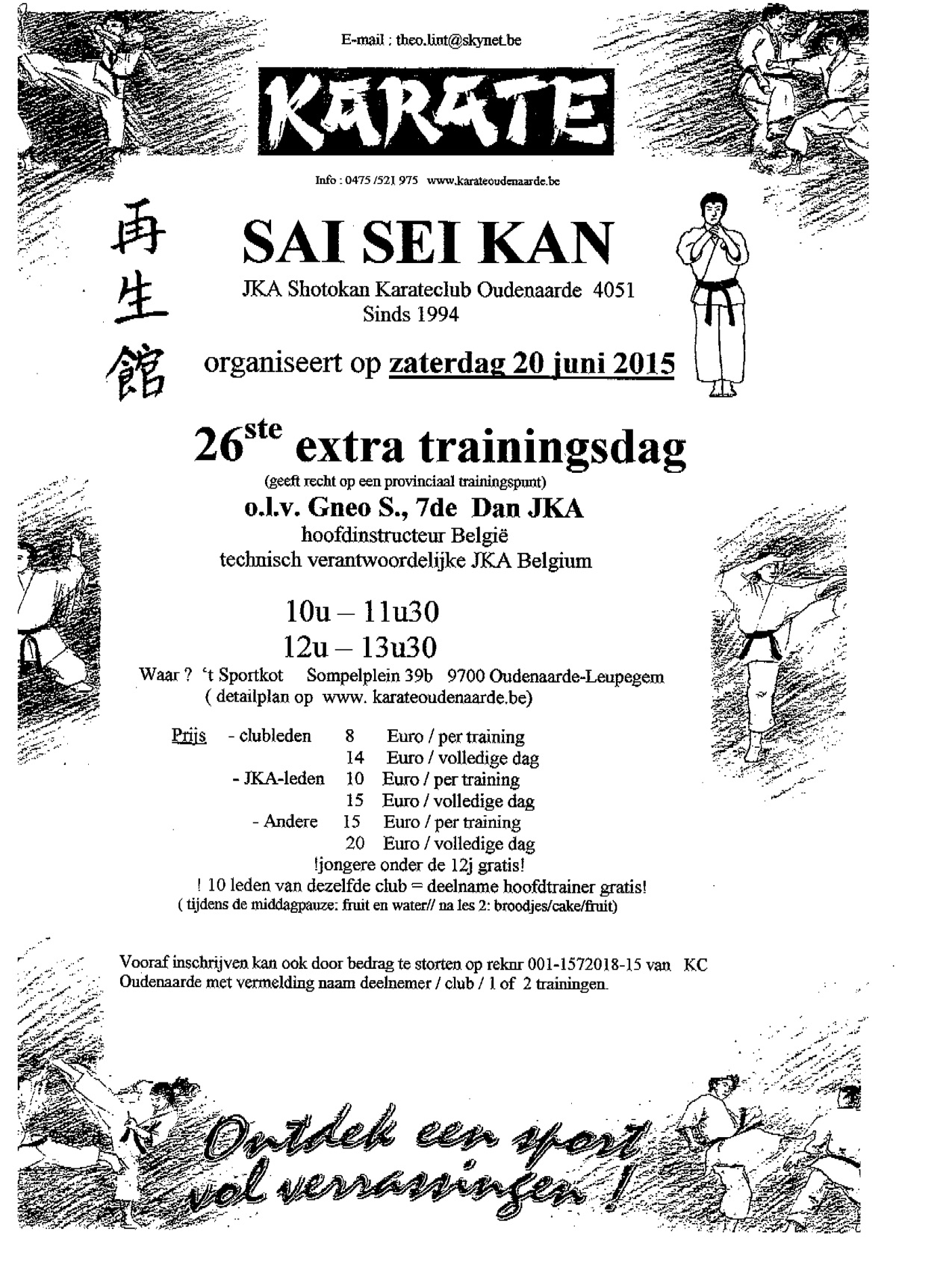 Trainingsdag 2015